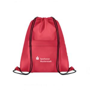 Rucksack mit Kordel und Reißverschlussfronttasche